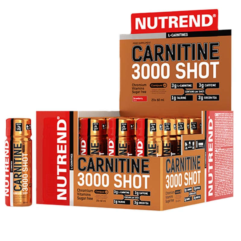 Novos Shots Liquidos de Carnitina 3000