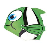 Touca de natação para crianças - verde