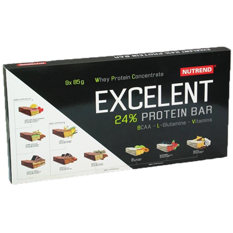 Caixa com 9 Barras de Proteína Excelent 85g