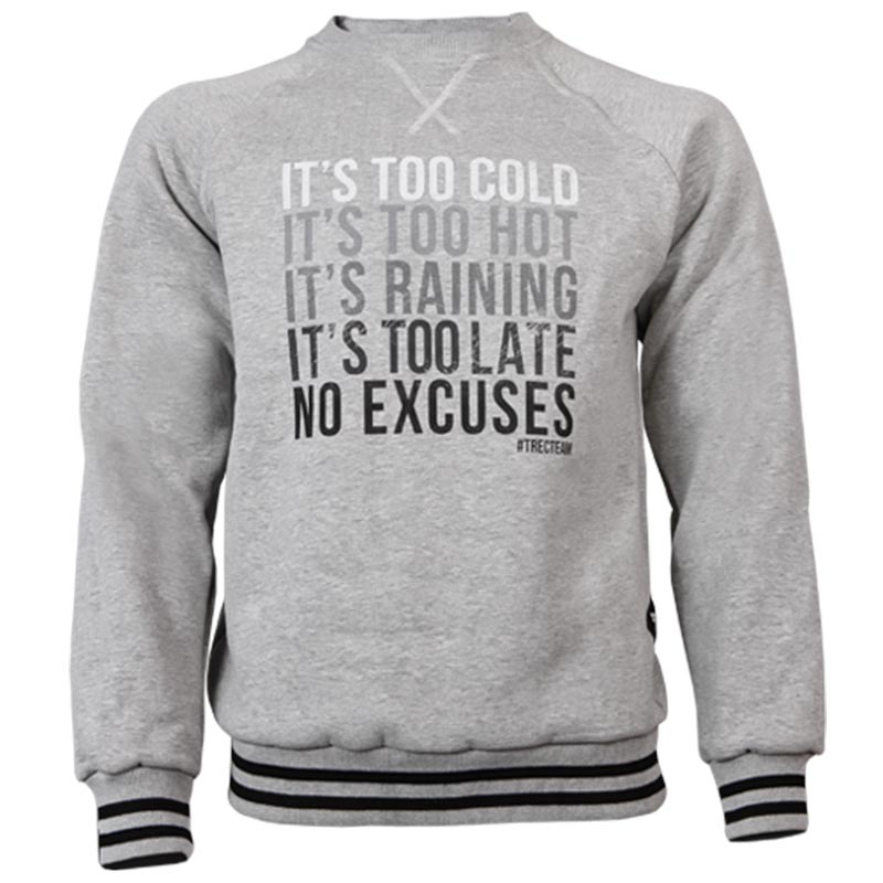 SweatShirt No Escuses Côr Cinzento