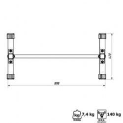 Especificações das Barras para Fundos e Abdominal Modelo MH-D011 da Marbo Home Edition