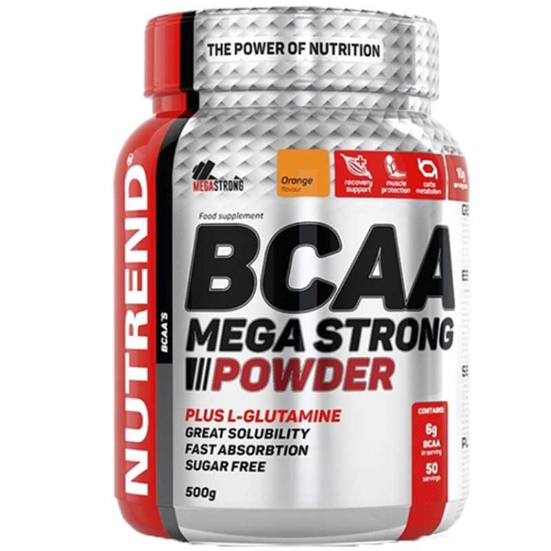 BCAA Mega Strong em Pó 500g com Glutamina