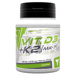 Vitamina D3 mais K2 (MK-7) - 60drageias