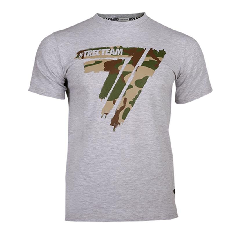 Tshirt Modelo Play Hard da Trec Wear Cinza com camuflado Tropa