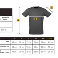 Tabela de Tamanhos para comprar a Tshirt Play Hard da Trec Wear