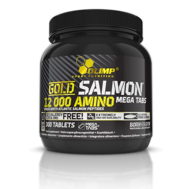 Aminoácidos de Salmão Gold da Olimp com 300 comprimidos