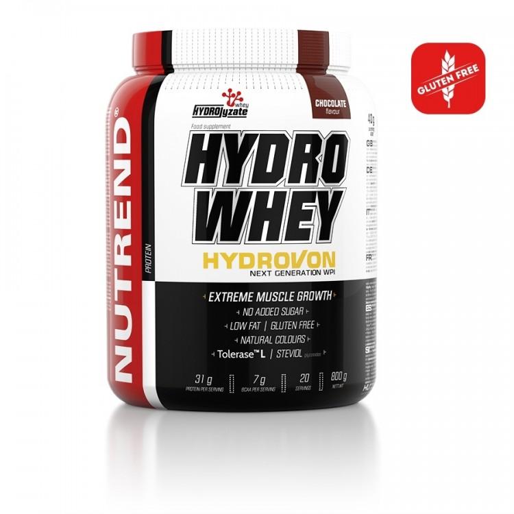 Embalagem Hydro Whey de 800g com Sabor Chocolate