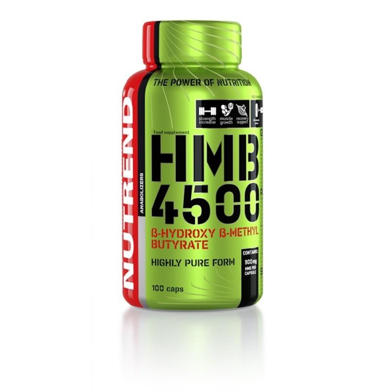 HMB 4500 da Nutrend - 100 cápsulas com uma elevada dosagem de 900mg HMB cada cápsula