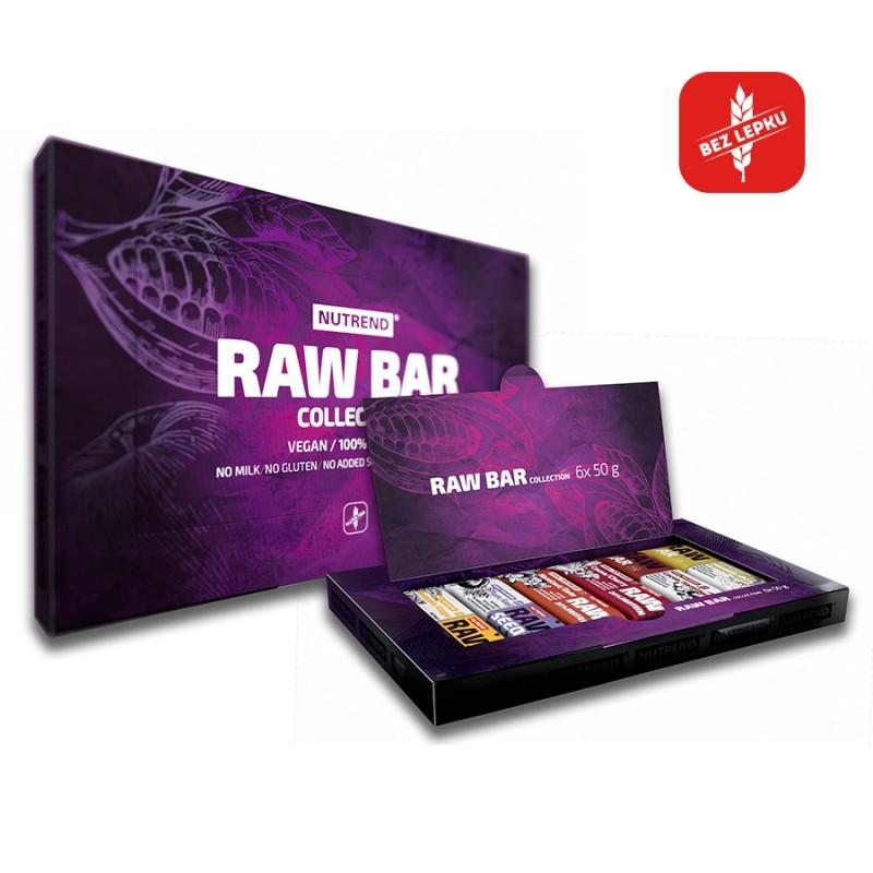 Caixa com 6 sabores diferentes das RAW Bar - 100% Naturais
