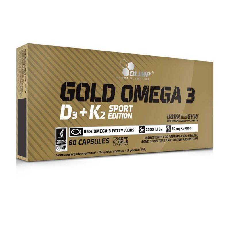 Gold Omega 3 com Vitamina D3 e K2 Edição Sport