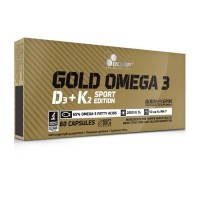 Gold Omega 3 D3 K2 Sport - 60drageias