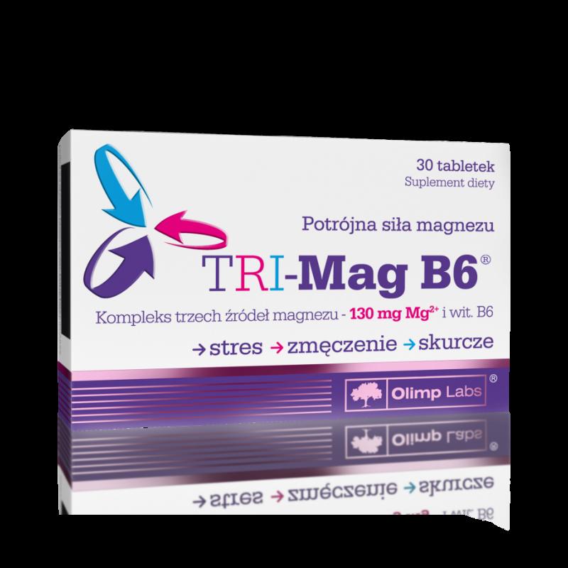 3 tipos de magnésio com vitamina B6 - 30 comprimidos