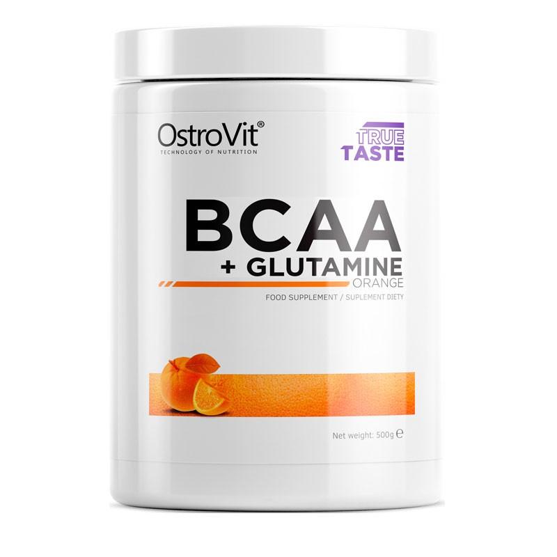 BCAA mais Glutamina Sabor Laranja em Embalagem de 500g