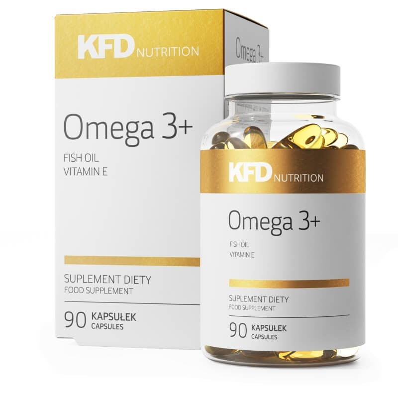 Omega 3+ com 90 drageias da KFD