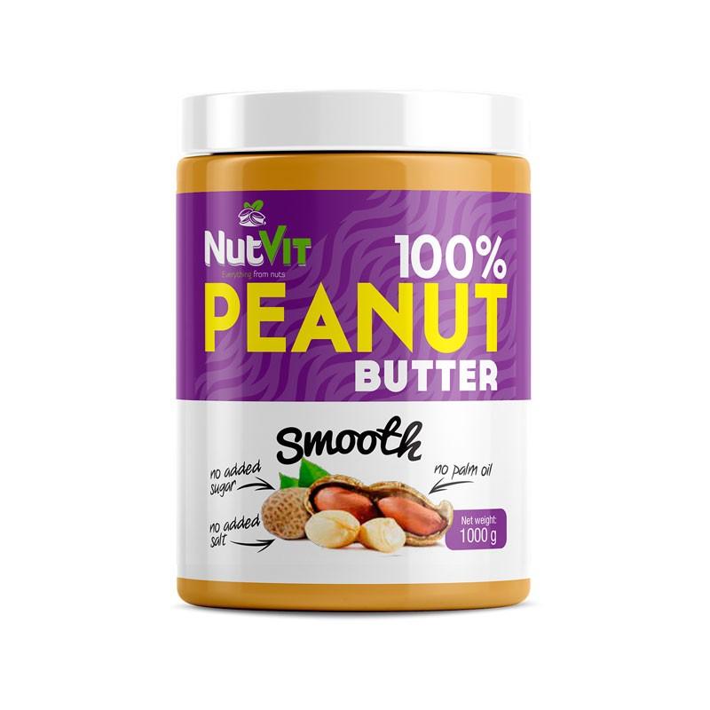 Manteiga de Amendoim Smooth - Suave - 1000g - Qualidade NutVit