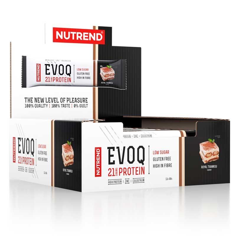 Caixa Expositora das Barras de Proteína EVOQ - Tiramisú