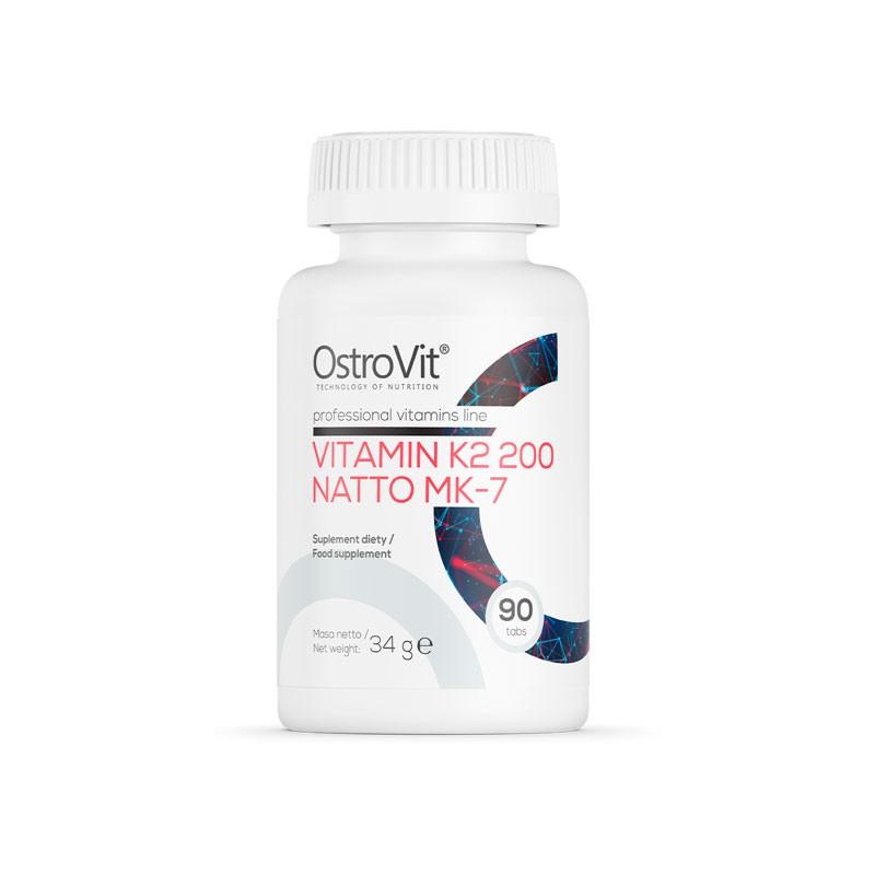 Vitamina K2 de Natto MK-7 com 90 doses diárias da Ostrovit