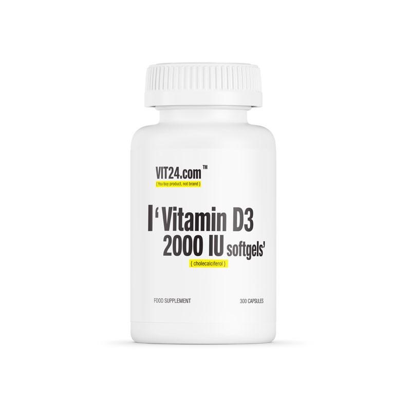Vitamina D3 com 2000UI da Vit24