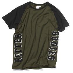 T-Shirt Verde Mangas Pretas