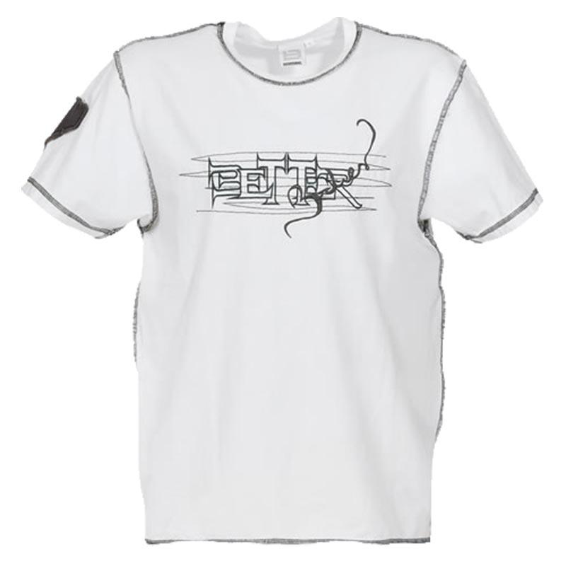 T-Shirt Branca Costuras Pretas