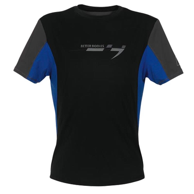 T-Shirt Preta Azul Cinza
