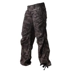 Calça Casual de Bolsos Camuflado